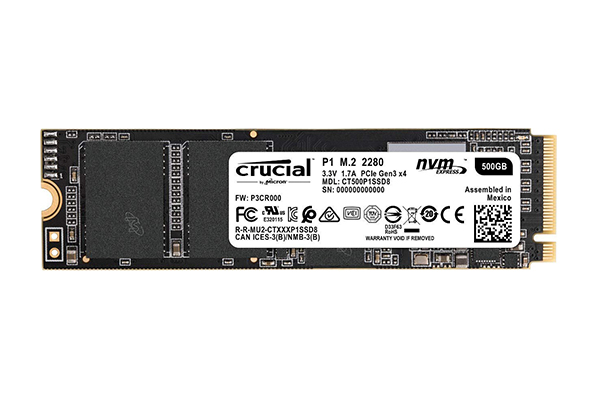 Crucial P1 M.2 2280 NVMe SSD